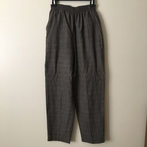 Vintage 80s Plaid Trouser Pants